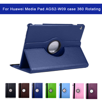 protective pu leather 360 Rotating PU Leather Case For Huawei Media Pad AGS2-W09 10.1 inch Protective Shell/Skin Shockproof Anti-Dust Business (1)