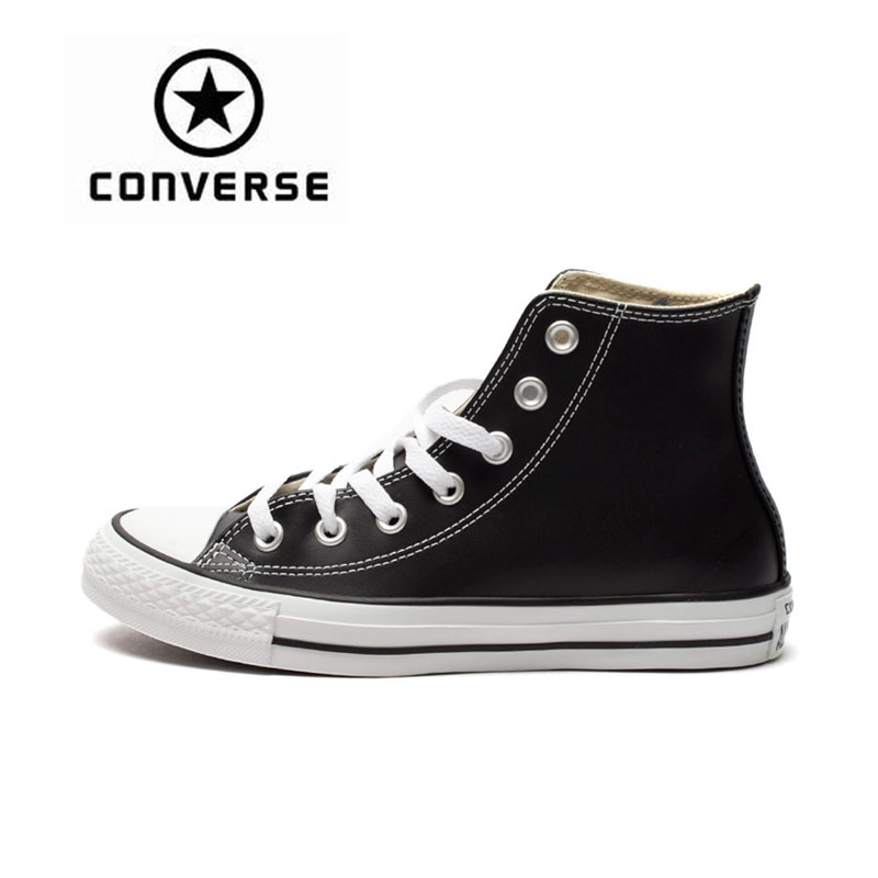 Official Converse All Star Sneakers Pure Color High Top Unisex Canvas Skateboarding Shoes Waterproof Women Men Converse Sneakers original converse all star women sneakers flower color light popular summer canvas skateboarding shoes 552923c