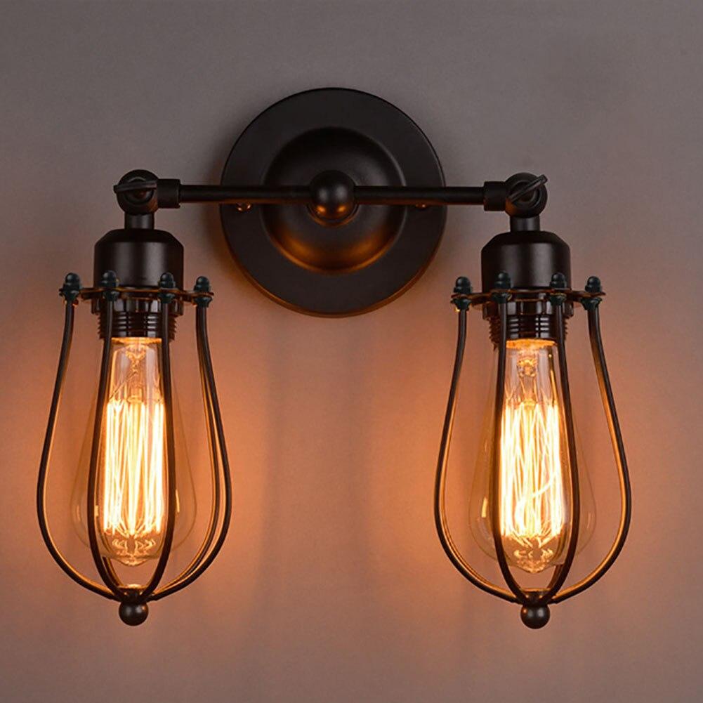 Личность железа один двуглавый настенный светильник бра ночники E27 поселка грейпфрут настенный светильник для ресторана/Кофе бар
