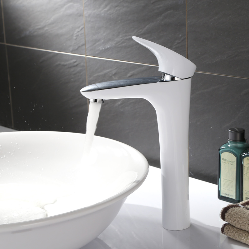 hot and cold water basin head stage, lower basin washbasin, heightening faucet, bathroom counter basin, white lead