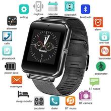 Для мужчин Смарт часы Bluetooth Спорт Водонепроницаемый трекер SmartWatch Поддержка sim-tf кассеты камеры для Android-смартфон + коробка