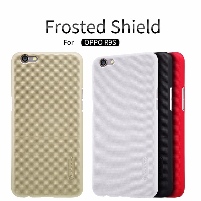 release date c1a0f 32f38 US $7.57 |OPPO R9S case OPPO R9S cover NILLKIN Super Frosted Shield matte  hard back cover case with free screen protector-in Half-wrapped Case from  ...