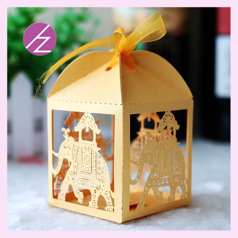 50pcs lot Free shipping Candy box for wedding party indian wedding     50pcs lot Free shipping Candy box for wedding party indian wedding cake  boxes cute elephant shape candy box TH 56 and TH 67 in Gift Bags   Wrapping  Supplies
