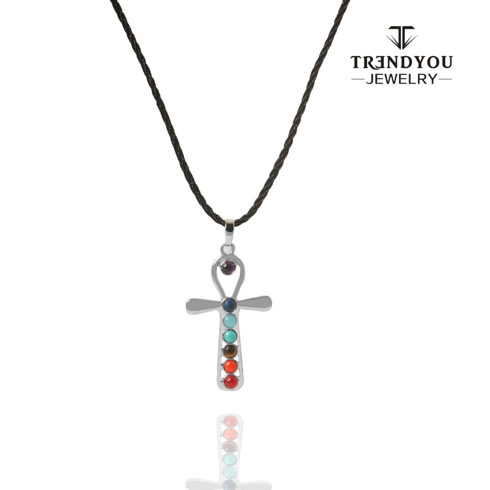 Trendyou reiki ankh symbol health amulet 7 chakra stones yoga trendyou reiki ankh symbol health amulet 7 chakra stones yoga symbols cross shape natural stone necklace pendant for women in pendant necklaces from jewelry buycottarizona Images