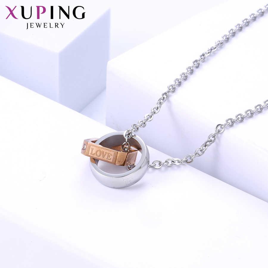 Xuping благородная романтическая пара кулон ожерелье экологическая медь для нейтральных женщин ювелирные изделия подарок на день Святого Валентина M45-40054