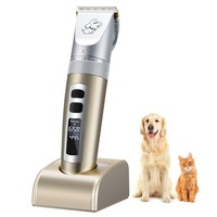 Pet Electric Clipper Pet Hair Shaver Grooming Trimmer Kit Set Low Noise Rechargeable Clear LED Display Mascotas Cachorro Perros