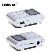 Kebidumei Mini reproductor MP3 Digital, USB, pantalla LCD, compatible con 32GB, tarjeta Micro SD, TF, radio FM