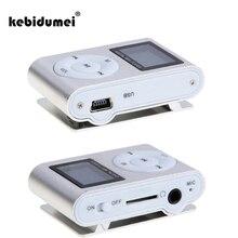 kebidumei Mini USB Clip Digital MP3 Player LCD Screen display Support 32GB Micro SD TF Card FM radio