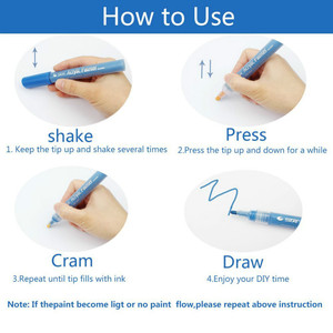 Image 3 - 24Color Permanent Acrylic Marker Pen, Highlighter Waterproof Hand DIY Paint Marker Pen For For Art Design School Supplies