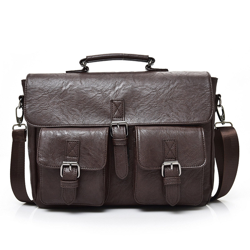 Men's Briefcases Laptop Man Bag Handbags Casual Men Shoulder Bags PU Leather Briefcase Crossbody Handbag For Man Bag Travel