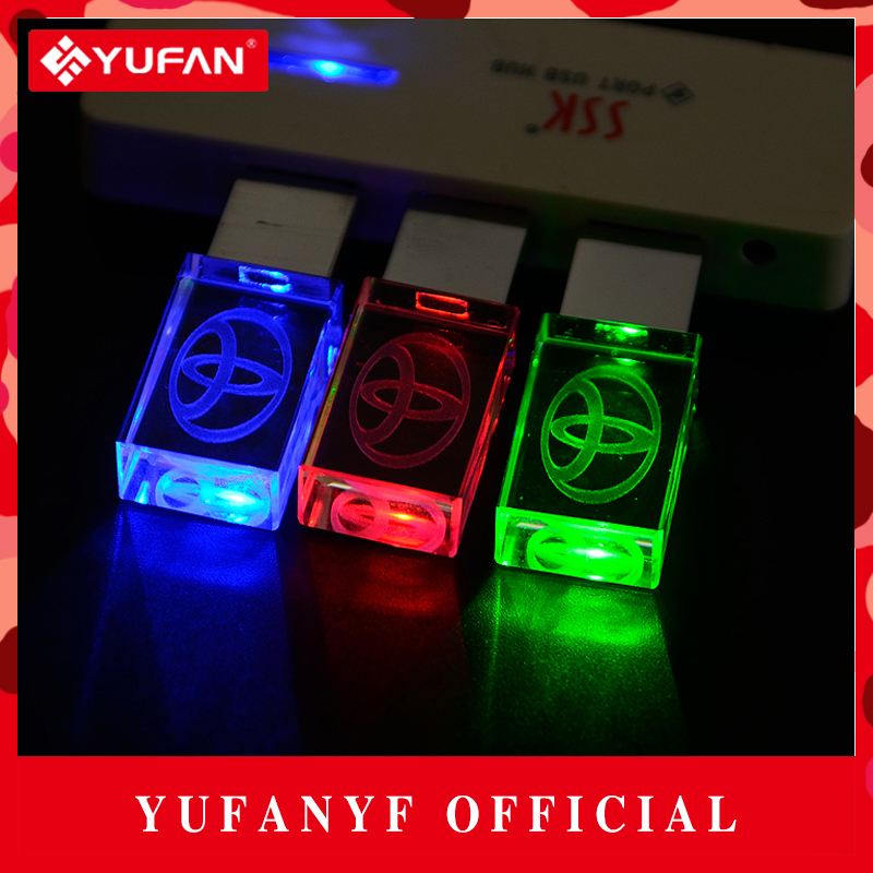 YUFANYF 2017 Pendrive 3 Colors Red / Blue / Green LED