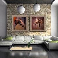 Новые Фотографии Картины белье высокого качества Масляной Живописи Home Decor Wall Art Аннотация Слон лошадь зебра