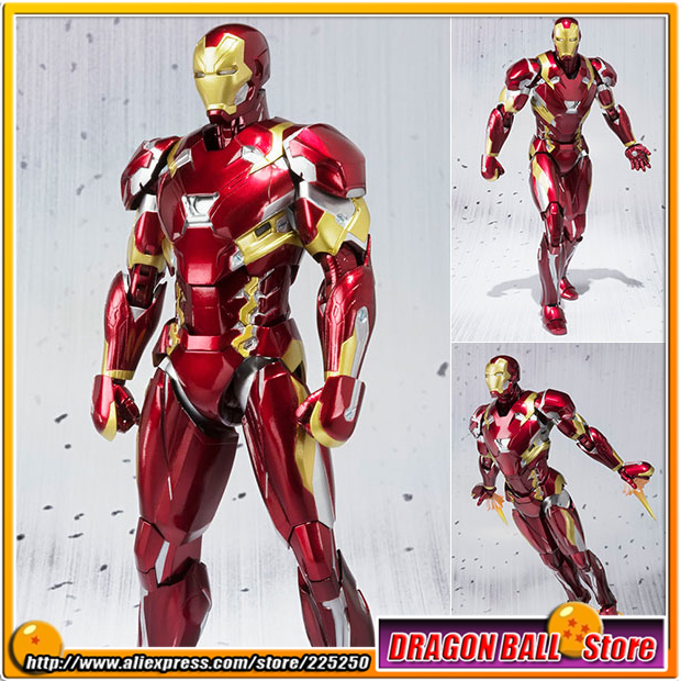 Captain America: Civil War Original BANDAI Tamashii Nations S.H.Figuarts / SHF Action Figure - Iron Man Mark 46 (MK 46) civil war battleship the monitor level 4