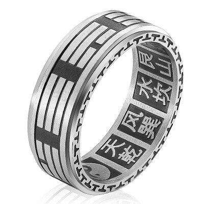 Chengoory China mode ring runde form aus stahl in grau farbe sowohl für mann und frauen Schönheit und schmuck