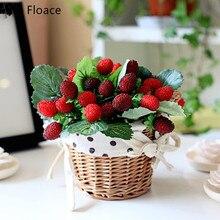 ФОТО strawberry fruit decoration flowers artificial flowers set artificial fruit paddle mulberry fruit photo props