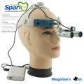 Faísca de Ampliação 6.0x Lupas APD Profissional com Cabeça Confortável e Montado CONDUZIU a Luz de Cabeça para Dental, cirúrgica