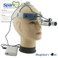 Spark 6.0x Magnification Professional APD Loupes with Comfortable Headband and Mounted LED Head Light for Dental, Surgical