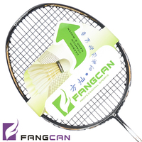 (5pcs/lot) FANGCAN new listing high end badminton racket n90iii with string ultralight woven top quality carbon badminton racket