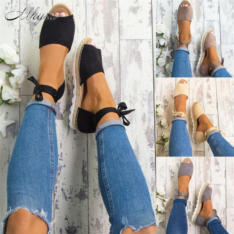Mhysa 2018 Big Size 34-44 Flats Sandals Summer Women Sandals Fashion Casual Shoes For Woman European Rome Style Sandal S261 new women sandals low heel wedges summer casual single shoes woman sandal fashion soft sandals free shipping