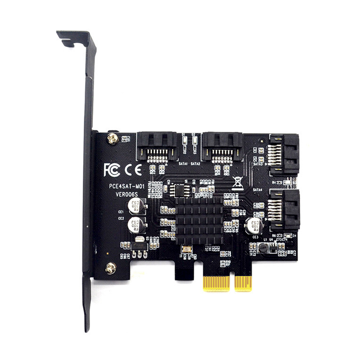 PCI-E to sata3.0 Controller expansion card 4 port 6G riser card expansion IPFS hard drive mining card 88SE9215 цена и фото