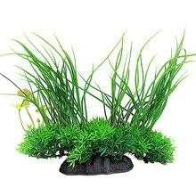 2017 8 inch Aquarium Artificial Plant Grass Green Plastic Water Grass Fish Tank Aquarium Aquatic Decorative Landscape Supplies