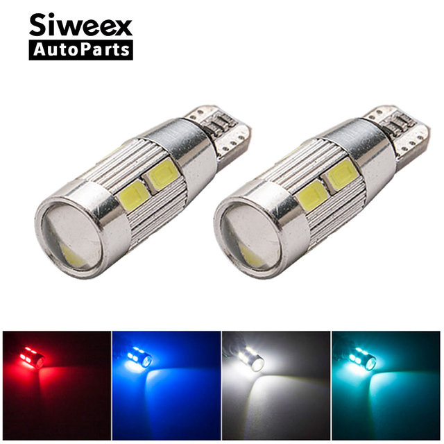 2x W5W LED T10 10 SMD 5630 5730 Car lamps 168 194 Turn Signal Light Trunk Lamp Instrument panel bulbs 12V
