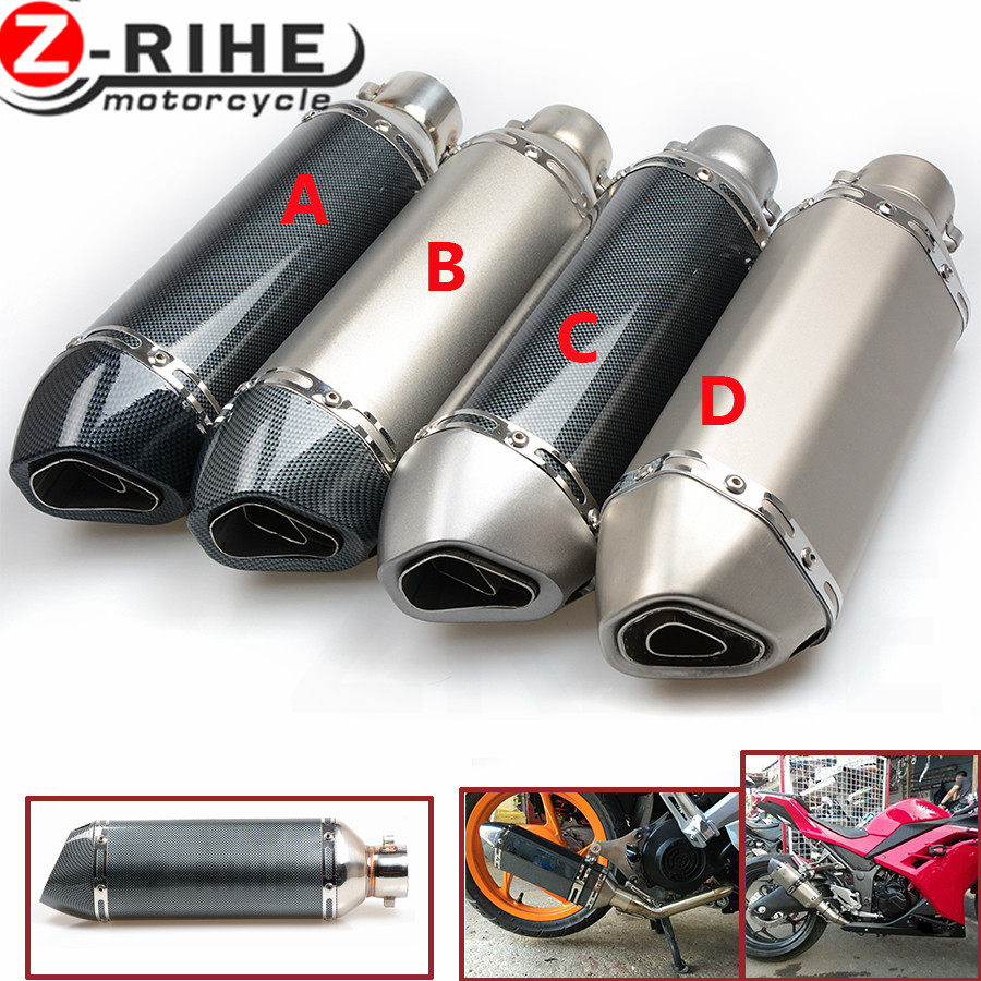for 51MM Universal Motorcycle Exhaust Pipe Moto Muffler Escape Pipe With DB Killer Dirt Pit Bike For Kawasaki ER6N CB400 AK1