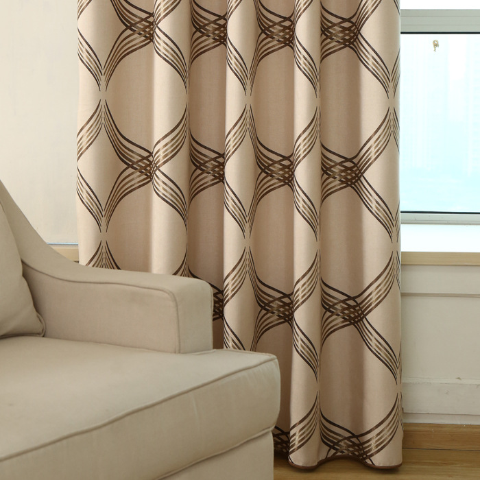 New European Top Grade Contracted Upset Shading Linen Jacquard Curtain Fabric Sample Curtains For Living Dining Room Bedroom In From Home Garden