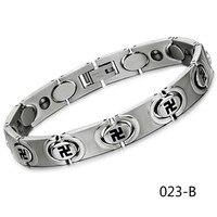 New Pattern Ornaments Fashion Titanium Steel Jewelry Ten Thousand Figure Man Bracelet Send Gifts GS3268