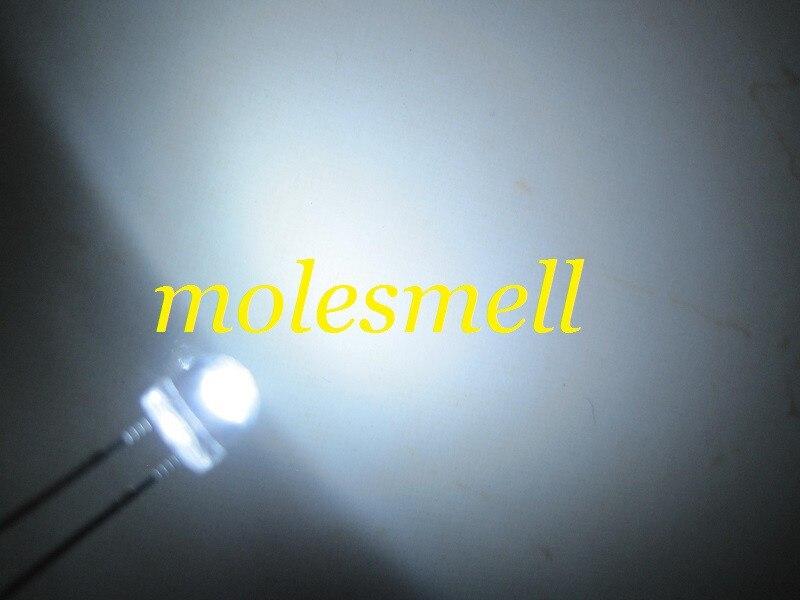1000 шт/партия! 5 мм соломенная шляпа белый светодиодный(3000mcd) 5 мм светоизлучающий диод 5 ММ strawhat белый широкоугольный светодиод