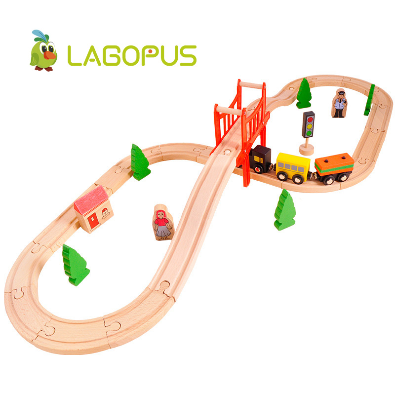 Train Sets Wooden Toys Railway 8 Types Available Wooden Train Track Pack Train Toys Accesaries Toys for Children