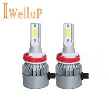 2 Pcs 12V 24V Car Headlight H4 LED H7 H1 H8 H9 H11  HB2 HB4  9005 9006 72W 8000LM Auto Headlamp 6500K Light Bulb цена