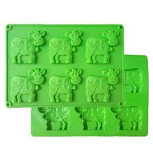6 Cups Cows Shape Silicone Cake Mold Chocolate Mould Biscuit Baking Molds Kitchen Accessories G20