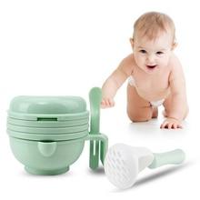 Creative Baby Feeding Bowl Fruit Vegetable Food Grinder Multifunction Manual Fruit Nutrition Supplement Food Mill Bowl