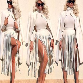 Nowe marki Hippie Boho Fringe Tassel skórzane damskie paski pasujące do wszystkiego fajne wysokiej talii moda długi szeroki Bondage dla kobiet tanie i dobre opinie baoxiu Dla dorosłych Dzianiny CN (pochodzenie) WOMEN Stałe B-001 Pasy