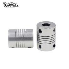 2 adet/grup esnek şaft Kaplin 5mm Için 8mm 5x8mm CNC Motor Çene şaft kaplini OD 19 x 25mm Toptan 3D Yazıcı Parçası