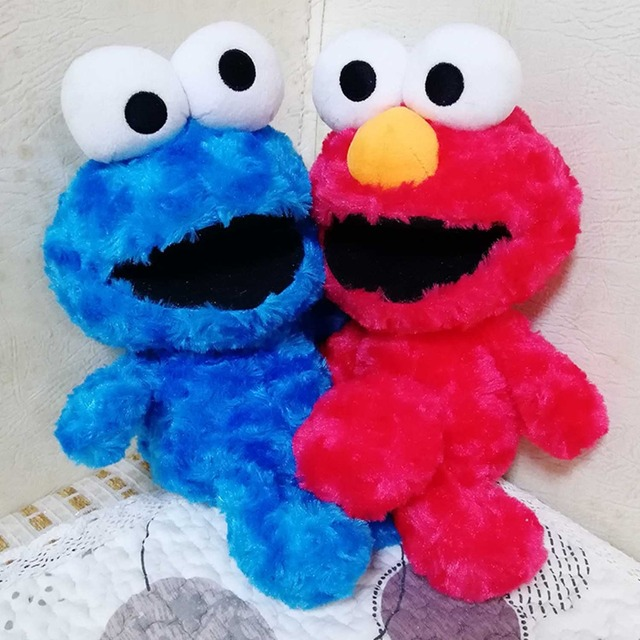30CM Sesame Street Toys Elmo Cookie Monster Plush Dolls Baby Kids Birthday Gift