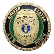 ВВС США/USAF силы безопасности полиции позолоченный пластиковый чехол для коллекции монеты/медаль 1413