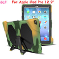 "Heavy Duty case For Apple iPad Pro 12.9"" Tablet case Gelifen Series Soft Silicone +PC Back Cover Kickstand Case"