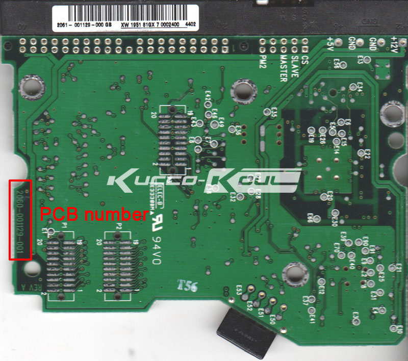 HDD PCB Logic Board 2060-001129-001 REV A For WD 3.5 IDE/PATA Hard Drive Repair Data Recovery