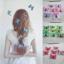 5Pcs/lot Cute Butterfly Hair Clips for Women Girls Bridal Wedding Decors Photography Costume Headwear Accessories Wholesale