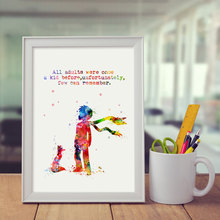 All Adults Were Once A Kid Before Wall Art Print The Little Prince Nursery Decorative Quotes Decor Z207