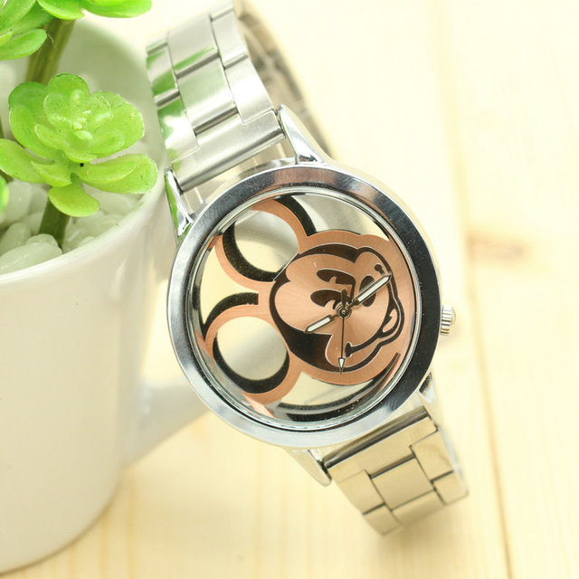 2018 brand Cartoon children wristwatches hollow out mickey fashionable For stude