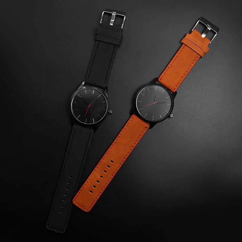 Relogio Masculino Men's Watch Fashion Leather Quartz Watch Casual Sports Watches Men Luxury Wristwatch Hombre Hour Male Clock 4