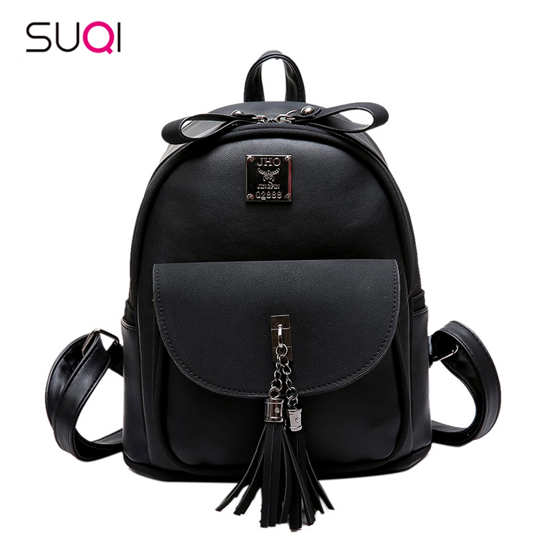 SUQI New Female Korean Fashion Women Backpack Student School Bag Rucksack Backpack For Women Preppy Style rdgguh backpack bag new of female backpack autumn and winter new students fashion casual korean backpack