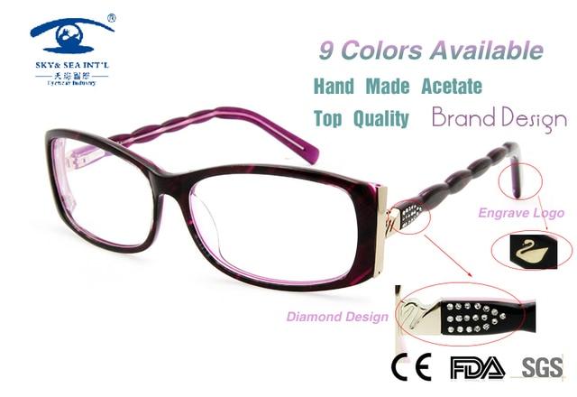 18fef8dfd77 Customized New 2015 Oculos Grau Women prescription Eyewear Original  Designer Luxury Diamand Butterfly Eyeglass Frames