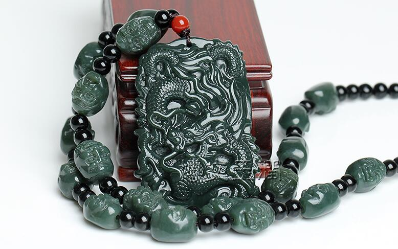 Fine 100/% Hand-carved Natural Handcraft Dragons Pendant AAAAA