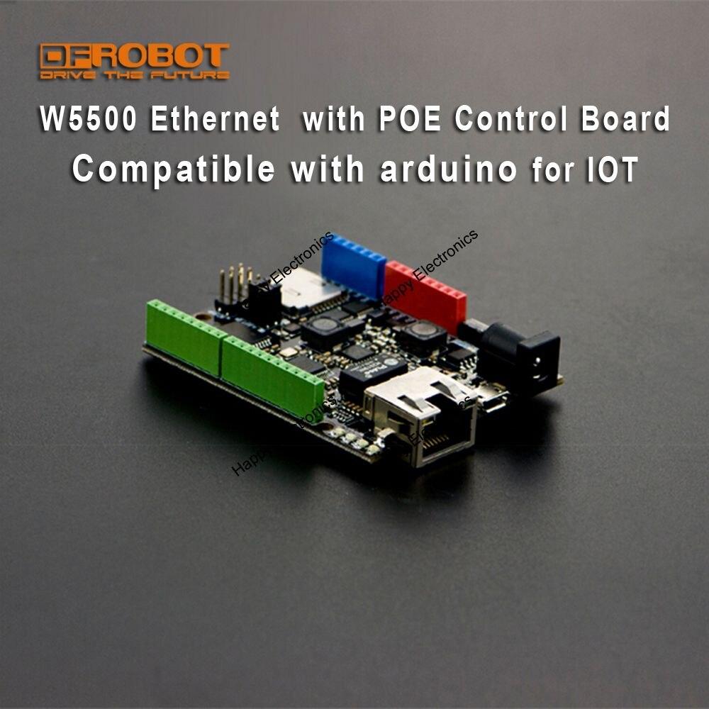 DFRobot 100% oryginalne W5500 Ethernet z ATmega32u4 i POE płyta sterowania kompatybilny z Arduino do IOT (intel z rzeczy) w Tablice demonstracyjne od Komputer i biuro na AliExpress - 11.11_Double 11Singles' Day 1
