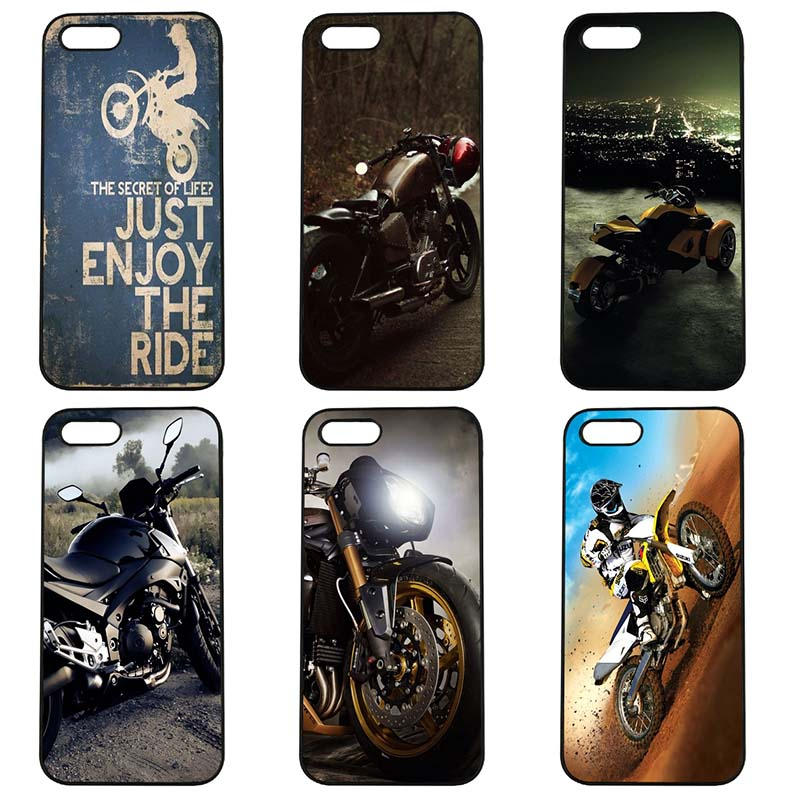 Fashion Vintage Classic Motorcycle Cell Phone Case Hard Cover Fitted for iphone 8 7 6 6S Plus X 5S 5C 5 SE 4 4S iPod Touch 4 5 6