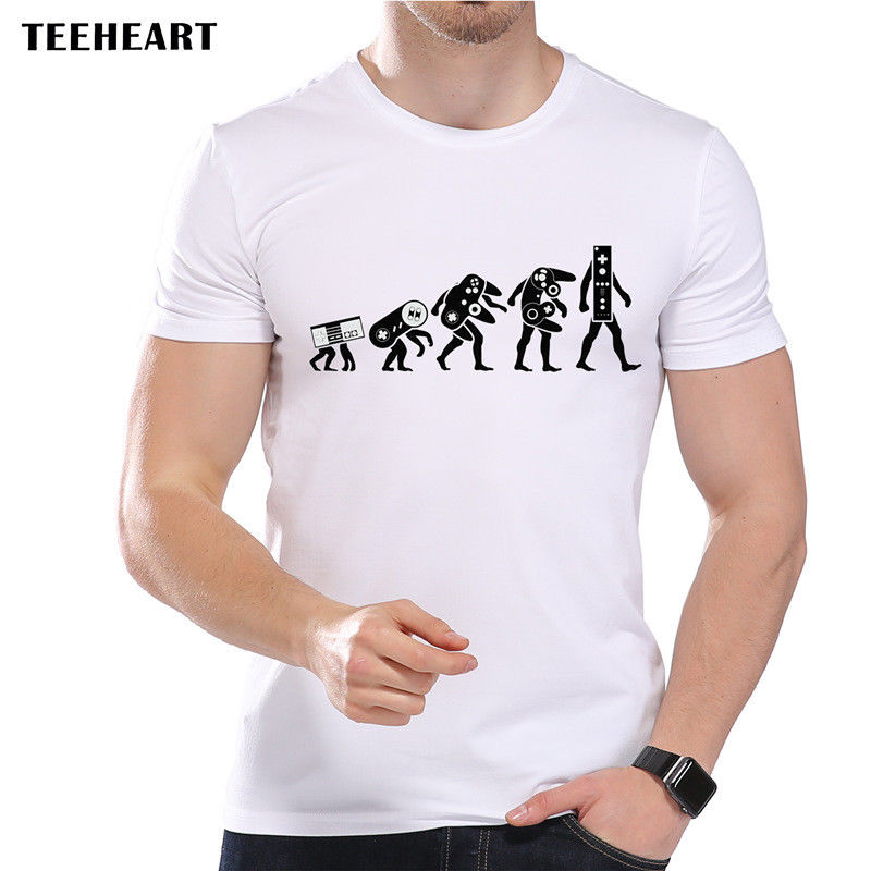 2019 Male Best Selling Evolution of Gaming Consoles Old School Games Funny Joke Men T Shirt Tee Summer Tee Shirt image
